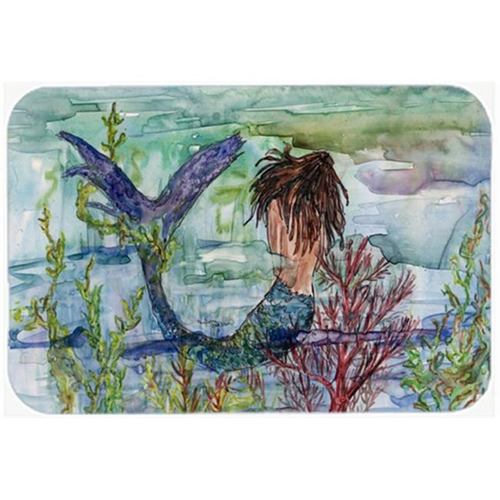 Carolines Treasures 8973MP Brunette Mermaid Coral Fantasy Mouse Pad Hot Pad or Trivet