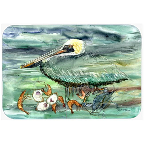 Carolines Treasures 8978MP Watery Pelican Shrimp Crab & Oysters Mouse Pad Hot Pad or Trivet