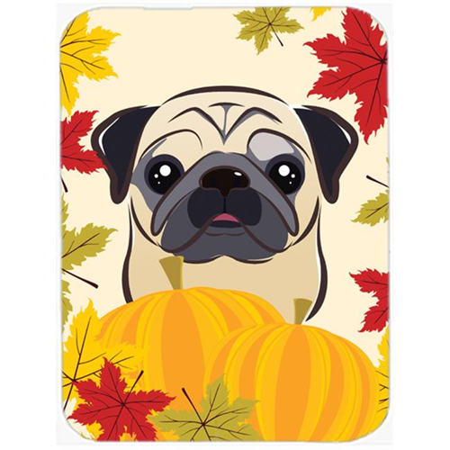 Carolines Treasures BB2068MP Fawn Pug Thanksgiving Mouse Pad Hot Pad or Trivet