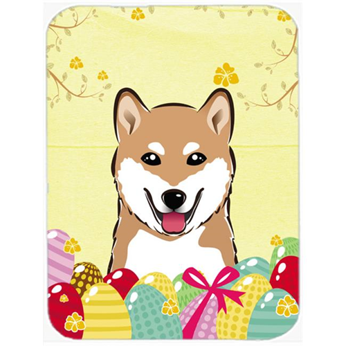 Carolines Treasures BB1907MP Shiba Inu Easter Egg Hunt Mouse Pad Hot Pad or Trivet