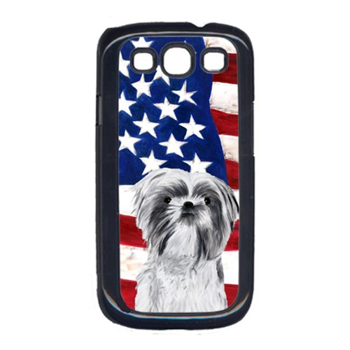 Carolines Treasures SC9015GALAXYS3 USA American Flag with Shih Tzu Cell Phone Cover GALAXY S111