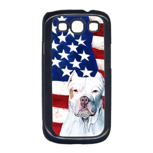 Carolines Treasures SC9026GALAXYS3 USA American Flag with Pit Bull Cell Phone Cover GALAXY S111