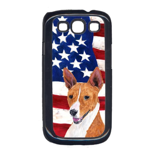 Carolines Treasures SC9033GALAXYS3 USA American Flag with Basenji Cell Phone Cover GALAXY S111