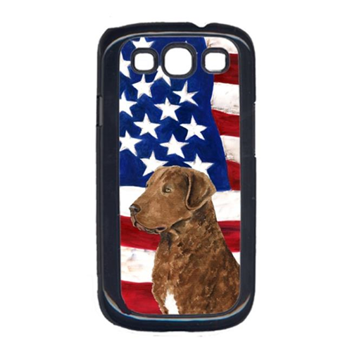 Carolines Treasures SS4016GALAXYS3 USA American Flag with Curly Coated Retriever Cell Phone Cover GALAXY S111