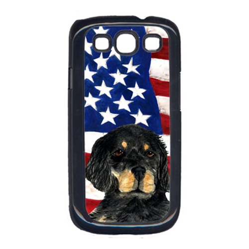 Carolines Treasures SS4042GALAXYS3 USA American Flag with Gordon Setter Cell Phone Cover GALAXY S111