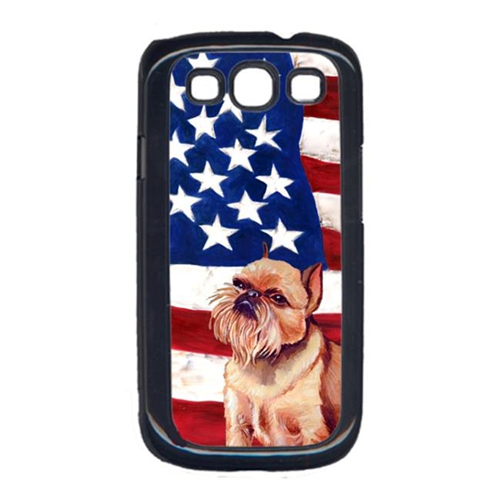 Carolines Treasures LH9023GALAXYS3 USA American Flag with Brussels Griffon Cell Phone Cover GALAXY S111