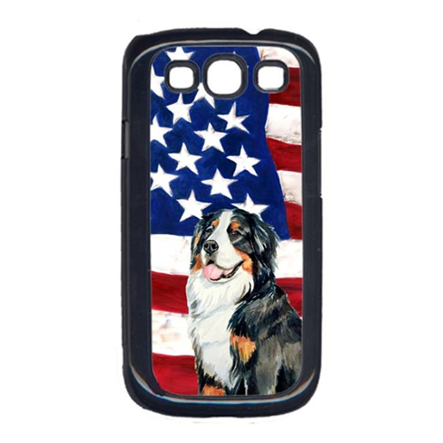 Carolines Treasures LH9003GALAXYS3 USA American Flag with Bernese Mountain Dog Cell Phone Cover GALAXY S111
