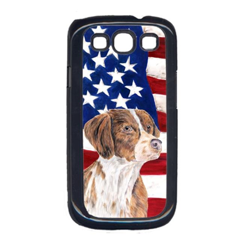 Carolines Treasures SC9112GALAXYS3 USA American Flag with Brittany Cell Phone Cover GALAXY S111