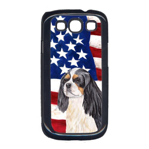 Carolines Treasures SC9114GALAXYS3 USA American Flag with Cavalier Spaniel Cell Phone Cover GALAXY S111