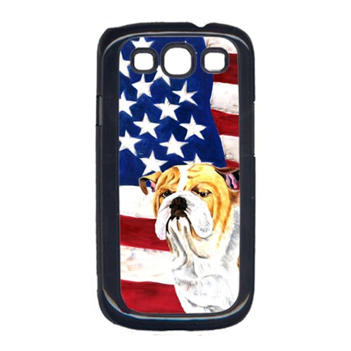 Carolines Treasures SC9002GALAXYS3 USA American Flag with Bulldog English Cell Phone Cover GALAXY S111