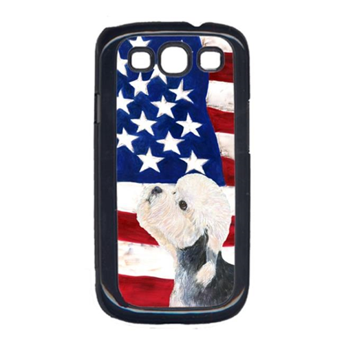 Carolines Treasures SS4030GALAXYS3 USA American Flag with Dandie Dinmont Terrier Cell Phone Cover GALAXY S111