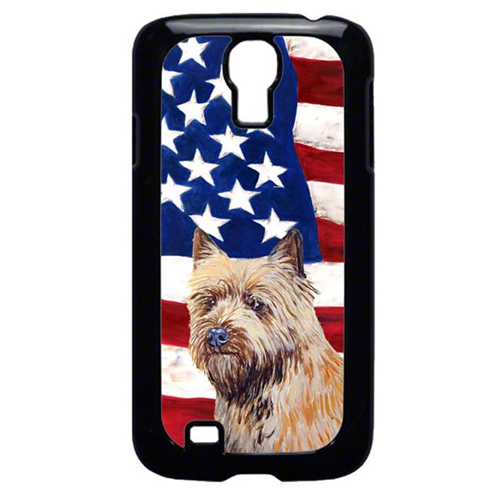 Carolines Treasures LH9020GALAXYS4 USA American Flag with Cairn Terrier Cell Phone Cover GALAXY S4