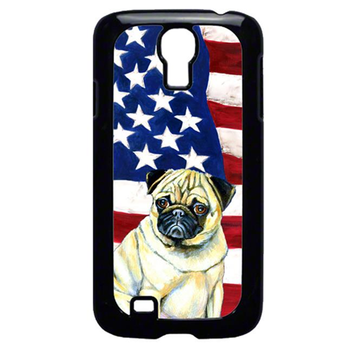 Carolines Treasures LH9002GALAXYS4 USA American Flag with Pug Cell Phone Cover GALAXY S4