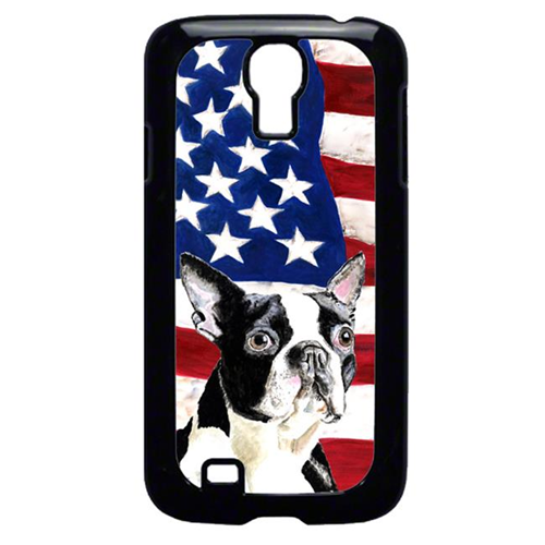 Carolines Treasures SC9001GALAXYS4 USA American Flag with Boston Terrier Cell Phone Cover GALAXY S4