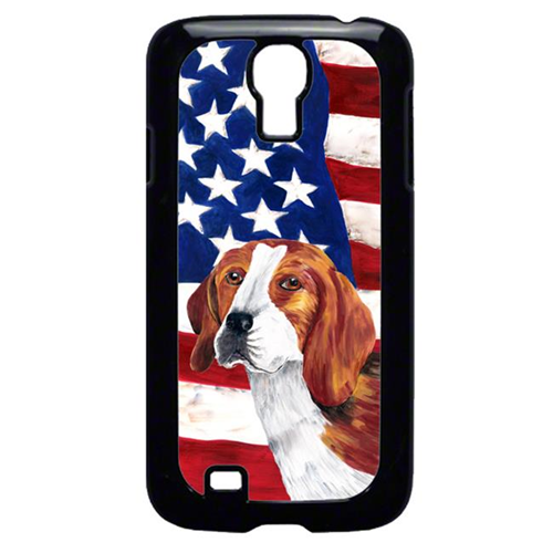 Carolines Treasures SC9005GALAXYS4 USA American Flag with Beagle Cell Phone Cover GALAXY S4