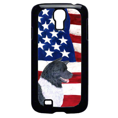 Carolines Treasures SS4005GALAXYS4 USA American Flag with Akita Cell Phone Cover GALAXY S4