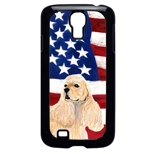 Carolines Treasures SS4006GALAXYS4 USA American Flag with Cocker Spaniel Cell Phone Cover GALAXY S4