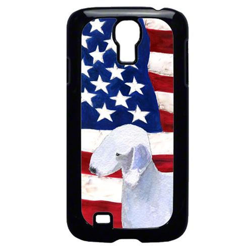 Carolines Treasures SS4045GALAXYS4 USA American Flag With Bedlington Terrier Galaxy S4 Cell Phone Cover