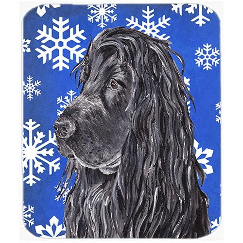 Carolines Treasures SC9597MP 7.75 x 9.25 in. English Cocker Spaniel Blue Snowflake Winter Mouse Pad Hot Pad or Trivet