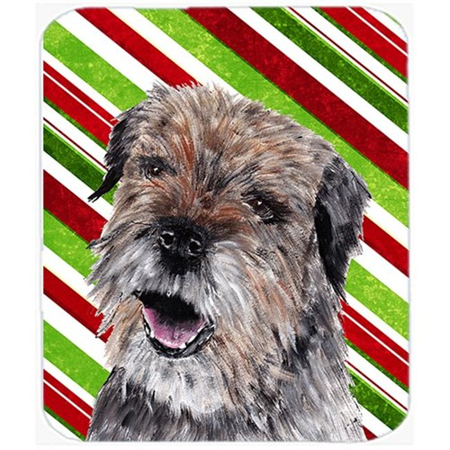 Carolines Treasures SC9613MP Border Terrier Candy Cane Christmas Mouse Pad Hot Pad Or Trivet