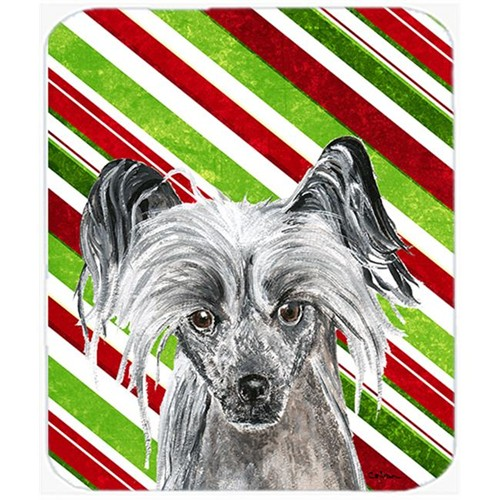 Carolines Treasures SC9620MP Chinese Crested Candy Cane Christmas Mouse Pad Hot Pad Or Trivet