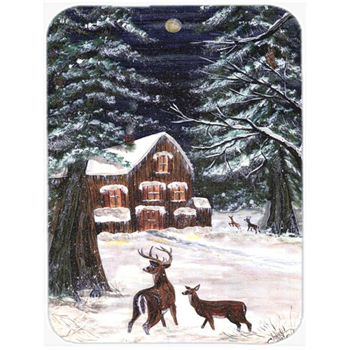 Carolines Treasures CN5054MP 7.75 x 9.25 In. Winter Scene with Deer Mouse Pad Hot Pad or Trivet