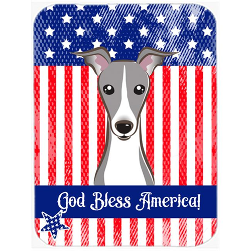 Carolines Treasures BB2166MP God Bless American Flag with Italian Greyhound Mouse Pad Hot Pad or Trivet