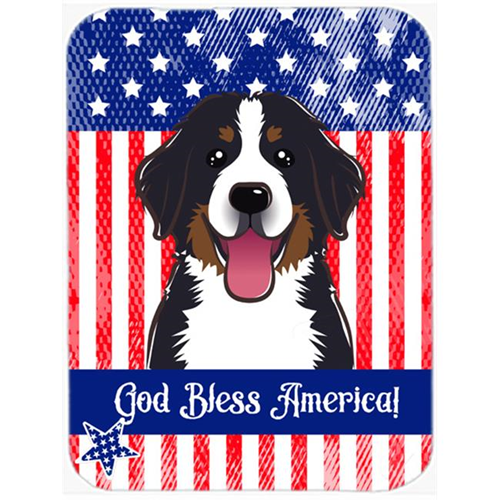 Carolines Treasures BB2167MP God Bless American Flag with Bernese Mountain Dog Mouse Pad Hot Pad or Trivet