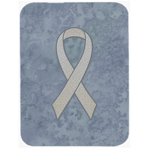 Carolines Treasures AN1210MP 7.75 x 9.25 In.Clear Ribbon for Lung Cancer Awareness Mouse Pad Hot Pad or Trivet