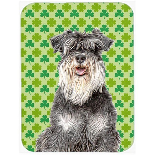 Carolines Treasures KJ1199MP St. Patricks Day Shamrock Schnauzer Mouse Pad Hot Pad or Trivet