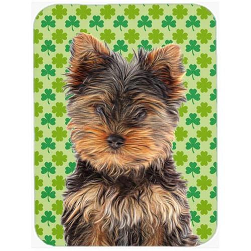 Carolines Treasures KJ1202MP St. Patricks Day Shamrock Yorkie Puppy & Yorkshire Terrier Mouse Pad Hot Pad or Trivet