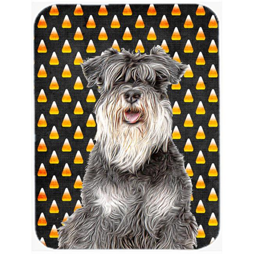 Carolines Treasures KJ1213MP Candy Corn Halloween Schnauzer Mouse Pad Hot Pad or Trivet