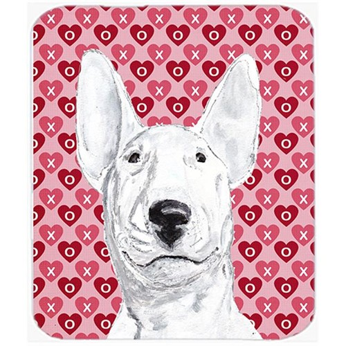 Carolines Treasures SC9562MP 7.75 x 9.25 In. Bull Terrier Valentines Love Mouse Pad Hot Pad or Trivet