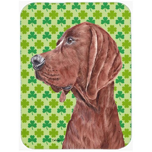 Carolines Treasures SC9731MP Redbone Coonhound Lucky Shamrock St. Patricks Day Mouse Pad Hot Pad Or Trivet 7.75 x 9.25 In.