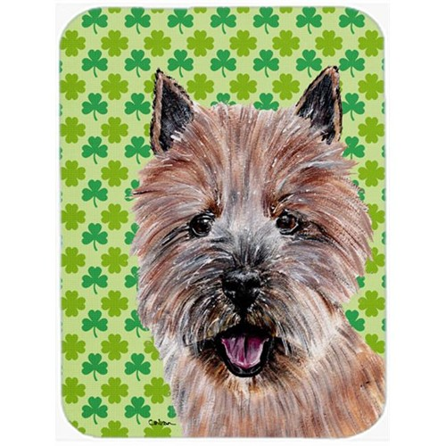 Carolines Treasures SC9734MP Norwich Terrier Lucky Shamrock St. Patricks Day Mouse Pad Hot Pad Or Trivet 7.75 x 9.25 In.