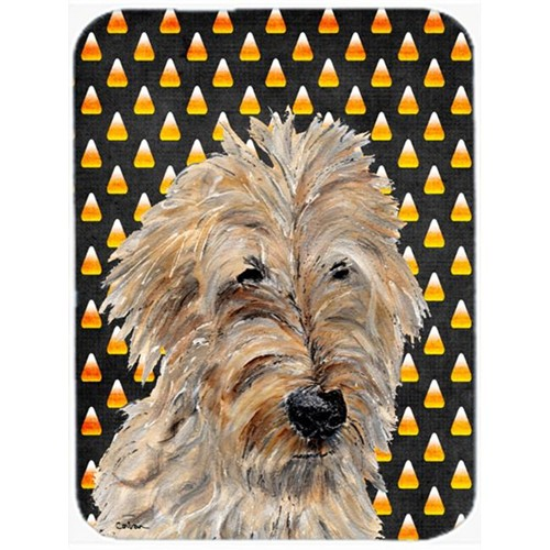 Carolines Treasures SC9667MP Golden Doodle 2 Candy Corn Halloween Mouse Pad Hot Pad Or Trivet 7.75 x 9.25 In.