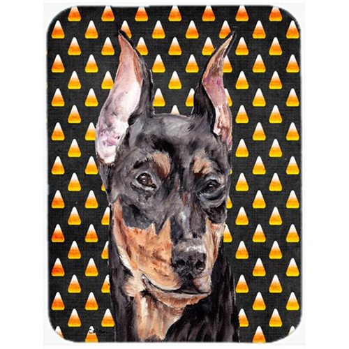 Carolines Treasures SC9668MP German Pinscher Candy Corn Halloween Mouse Pad Hot Pad Or Trivet 7.75 x 9.25 In.