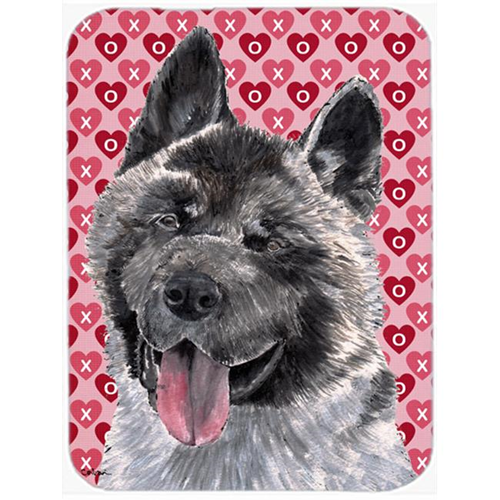 Carolines Treasures SC9484MP 7.75 x 9.25 In. Akita Hearts Love And Valentines Day Mouse Pad Hot Pad Or Trivet