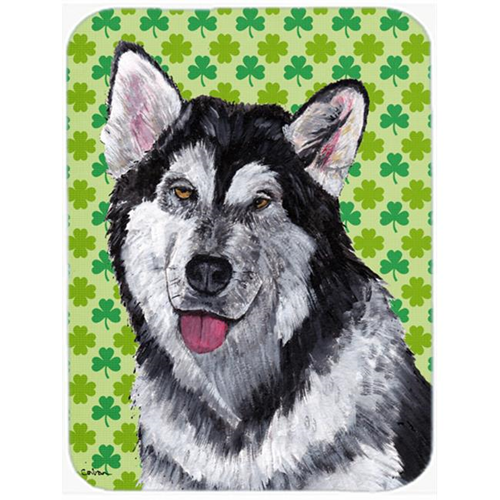 Carolines Treasures SC9493MP 7.75 x 9.25 In. Alaskan Malamute St. Patricks Day Shamrock Mouse Pad Hot Pad Or Trivet