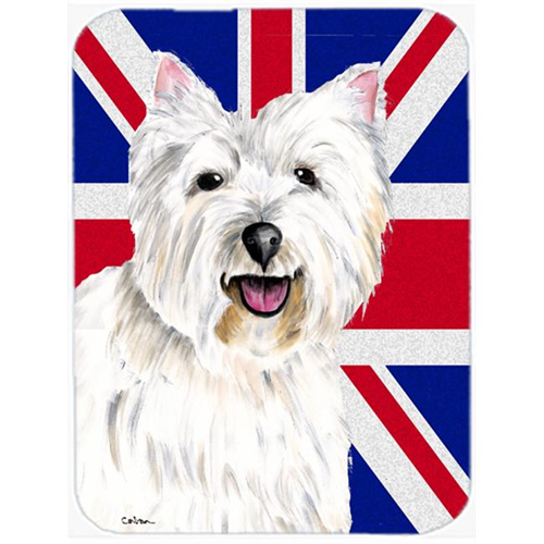 Carolines Treasures SC9827MP 7.75 x 9.25 In. Westie With English Union Jack British Flag Mouse Pad Hot Pad Or Trivet