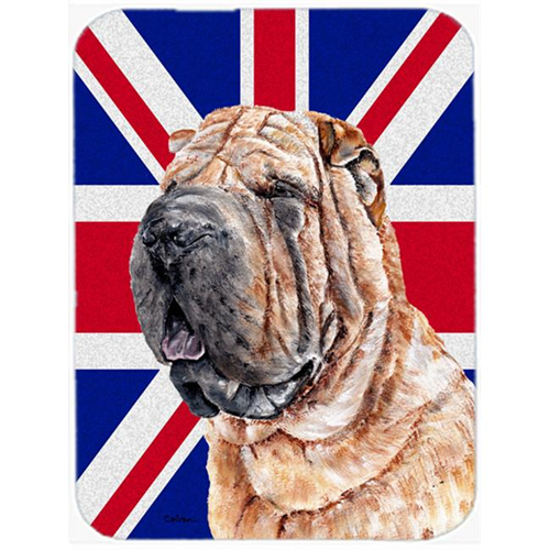 Carolines Treasures SC9892MP 7.75 x 9.25 In. Shar Pei With English Union Jack British Flag Mouse Pad Hot Pad Or Trivet