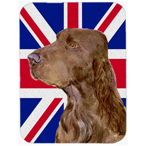 Carolines Treasures SS4967MP 7.75 x 9.25 In. Field Spaniel With English Union Jack British Flag Mouse Pad Hot Pad Or Trivet