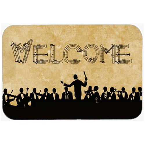 Carolines Treasures SB3071MP 7.75 x 9.25 In. Welcome Symphony Mouse Pad Hot Pad Or Trivet