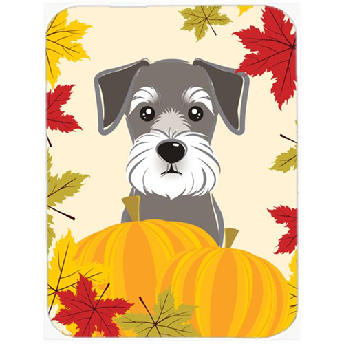 Carolines Treasures BB2012MP Schnauzer Thanksgiving Mouse Pad Hot Pad or Trivet