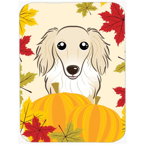 Carolines Treasures BB2018MP Longhair Creme Dachshund Thanksgiving Mouse Pad Hot Pad or Trivet
