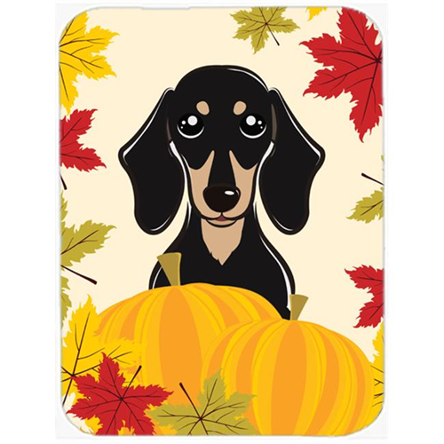Carolines Treasures BB2021MP Smooth Black and Tan Dachshund Thanksgiving Mouse Pad Hot Pad or Trivet