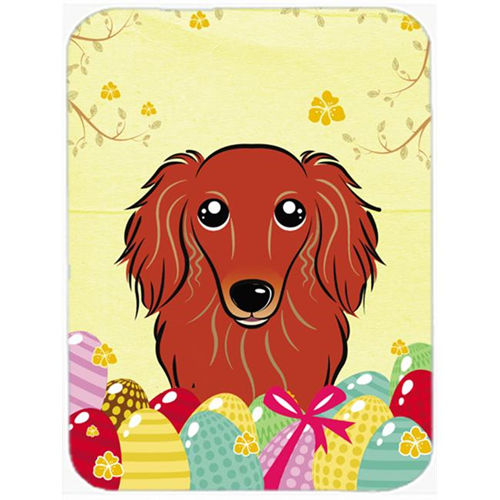 Carolines Treasures BB1896MP Longhair Red Dachshund Easter Egg Hunt Mouse Pad Hot Pad or Trivet