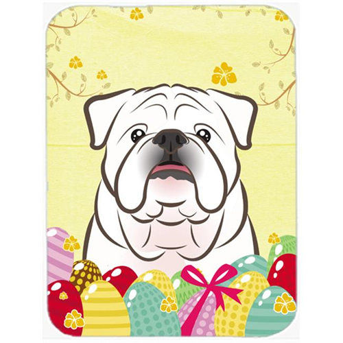 Carolines Treasures BB1902MP White English Bulldog Easter Egg Hunt Mouse Pad Hot Pad or Trivet