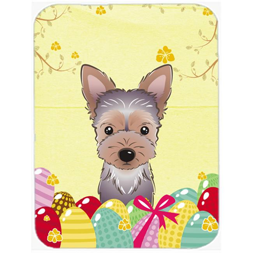Carolines Treasures BB1914MP Yorkie Puppy Easter Egg Hunt Mouse Pad Hot Pad or Trivet