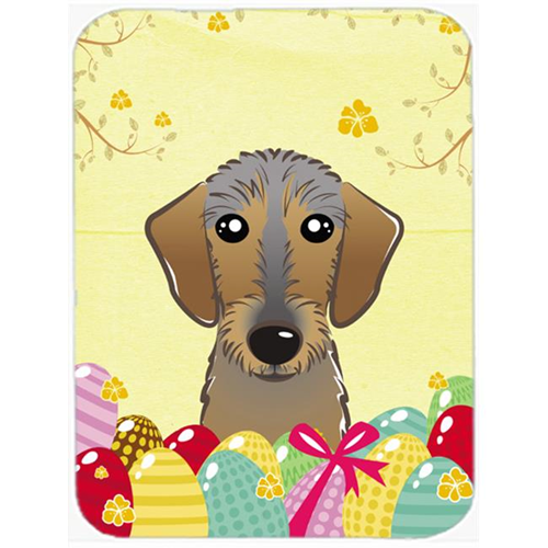 Carolines Treasures BB1915MP Wirehaired Dachshund Easter Egg Hunt Mouse Pad Hot Pad or Trivet